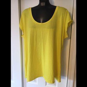 NWT Dots Bright Yellow T-Shirt - Size 3x